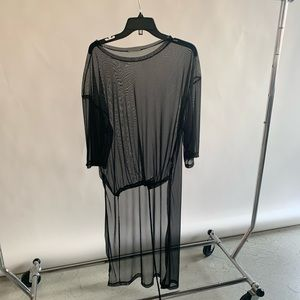 ZARA - Black Sheer T Shirt Dress